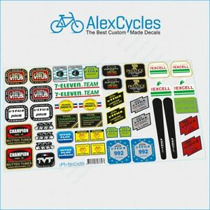 A lot of VITUS Champion EDDY MERCKX Decals Stickers Kit for Re-sprays