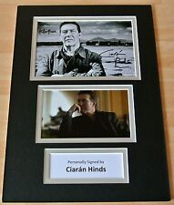 CIARAN HINDS hand SIGNED autograph A4 photo mount display Rome Harry Potter GIFT