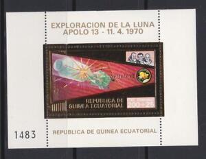 EQUATORIAL GUINEA 1972 SPACE STAMPS  APOLLO 13 GOLD FOIL SS MNH - SP201
