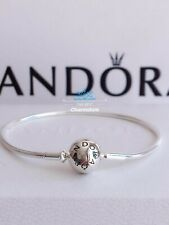 New Genuine Pandora Sterling Silver (Thin) Essence Charm Bracelet #596000 RRR£49