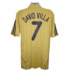 2007-2009 Spain Away Football Shirt #7 Villa Adidas XL (Very Good Condition)
