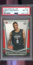 2008-09 Topps Tip-Off Red #114 Russell Westbrook ROOKIE RC PSA 8 Graded Card NBA