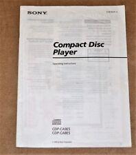 Sony CDP-CA 9 ES/CDP-CA 8 ES ORIGINAL user manual in ENGLISH Language!