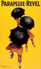"PARAPLUIE REVEL POSTER  UMBRELLA ADVERTISEMENT      LARGE 24"" X 36"" - NEW"