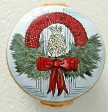 Big Rare Crummles Nantucket Christmas Wreath Island Pill Trinket Box Cape Cod