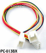 3-Pin Female to 2x 3-Pin Male Connectors Power Cable
