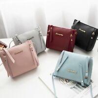 Women Zipper Shoulder Bag PU Leather Envelope Crossbody Messenger Handbag Purse