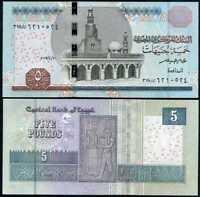 EGYPT 5 POUNDS 2017 P 71 NEW DATE UNC