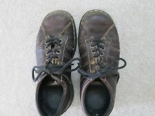 Mens Dr. Martens style 9764 dark brown leather shoe lace up size U.S 7 EUR 39