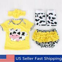"22"" Yellow Cotton Handmade Reborn Doll Lifelike Baby Clothes Short Pants Set"