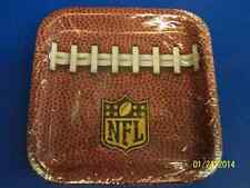 "NFL Party Zone Pro Football Sports Banquet Super Bowl 7"" Square Dessert Plates"