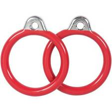 SWING SET STUFF COMMERCIAL COATED ROUND TRAPEZE RINGS RED (PAIR) playground 0015