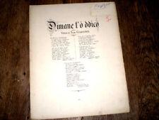 Dimane t'o ddico canzone popolare di Napoli piano chant 1880 P. Mario Costa