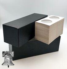 Coin Holder Slab Storage Box BLACK Holds 2½ x 2½ Crown + 100 BCW 2.5x2.5 Flip