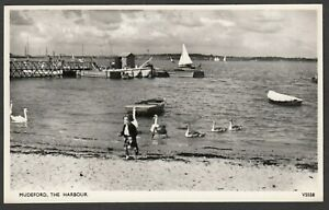 Postcard Mudeford nr Christchurch Dorset view of The Harbour RP