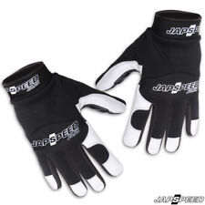 JAPSPEED HEAVY DUTY MECHANICS/DRIVERS GLOVES BLACK & WHITE HIGH QUALITY