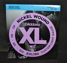 D'Addario EXL 190 NICKEL WOUND Electric Bass strings Custom light 40/100