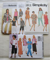 3 PLUS SIZE Sewing Patterns*UNCUT/FF*summer wear*dress shorts pants top shirt