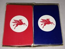 Vintage Mobil Gas Playing Cards - 2 Deck Box