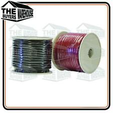 WIRE 6MM TRADE SINGLE CORE AUTOMOTIVE WIRING CABLE 20M BLACK RED SPOOL