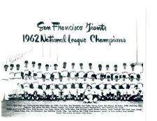 1962 SAN FRANCISCO GIANTS 8x10 PHOTO MAYS MCCOVEY TEAM BASEBALL  USA FAC'S AUTO