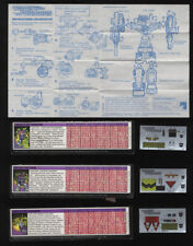 Transformers Generation 1 Devastator Cardbacks and Unused Decals Instructions