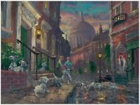 Disney Fine Art Limited Edition Canvas We'll Keep Em-101 Dalmatians-Coleman
