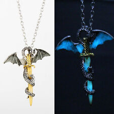 Punk Luminous Dragon Pendant Glow Long Chain Choker Necklace Game of Thrones 8