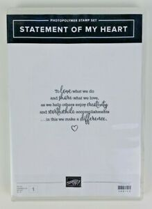 Stampin' Up! Statement Of My Heart  Stamp Set | Retired Photopolymer NEW