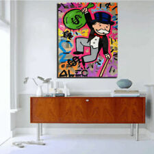 Alec-Monopoly  Hand-Painted Oil Painting Canvas art graffiti Portrait 36inch