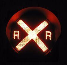 "8"" RAILROAD CROSSING Traffic Signal Light Red lens cap visor (A)"