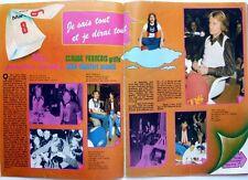 CLAUDE FRANCOIS et ALAIN CHAMFORT =>  COUPURE DE PRESSE 2 pages 1974