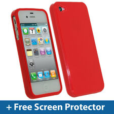 Rojo Tpu Gel Case Para Apple Iphone 4s 16 Gb 32 Gb 64 Gb piel cubierta de parachoques
