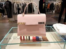 BRAND NEW Authentic DELVAUX Tempete GM Satchel Leather Bag PINK w/ Rose Gold