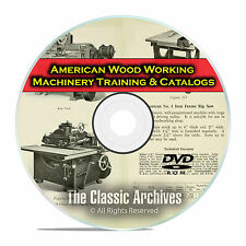 American Woodworking Machinery for Vocational Training, Vintage Catalogs DVD F33