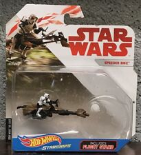 Hot Wheels Star Wars Starships Original Trilogy Speeder Bike Scout Trooper ROTJ