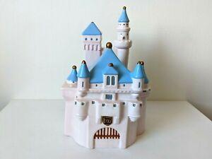 """Disney Ceramic Cinderella Castle Ceramic 11"""" Cookie Jar - Rare"""