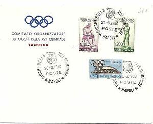 1960 ITALIA OLIMPIADI GIOCHI OLIMPICI DI ROMA YACHTING  FDC  BC17