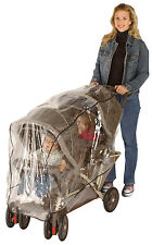 Jeep Tandem Stroller Deluxe Weather Shield Will Fit Most Tandem Twin Strollers!!