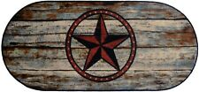 20X44 Barn Star Texas Rustic Cabin Lodge Oval Kitchen Rug Mat Washable Accent