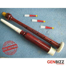 BAGPIPE PRACTICE CHANTER ROSE WOOD Plastic Mounts With Free 3 Reeds
