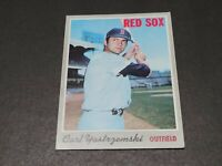 Carl Yastrzemski 1970 Topps #10 Baseball Card Red Sox HOF Low Grade