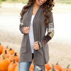 Women Long Sleeve Loose Cardigan Knitted Sweater Jumper Outwear Coat Tops S-XL