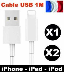 CABLE USB 1M POUR IPHONE SYNC CHARGEUR 5 6 6S 6 PLUS SE 7 PLUS 8 X XS XR IPAD