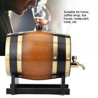 3L Large Capacity Retro Color Oak Wood Wine Barrel Bucket Keg Storage Container