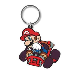 Genuine Mario Kart Mario Drift Rubber Keyring Key Chain Fob Gaming Super Mario