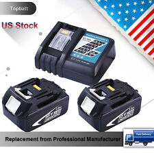 Replace for 14.4V-18V Lithium-ion Makita Charger + 2pcs BL1830 Battery 3.0Ah