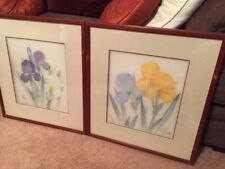 Signed - Chinese Flower Paintings on Rice Paper - Matted and Framed !