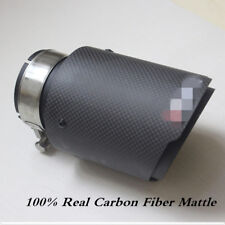 100% Real Carbon Fiber Mattle Exhaust Tips Muffler Car Exhaust Muffler Pipe