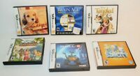 Nintendo DS Lot of 6 Empty Case/Manual/Inserts-NO GAME CARTRIDGES